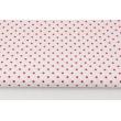 Cotton 100% fuchsia dots 4mm on a white background