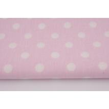 Bawełna 100% kropki 10mm na różowym tle