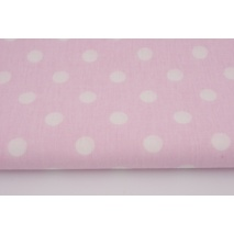 Cotton 100% polka dots 10mm on a pink background