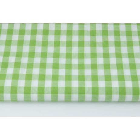 Bawełna 100% kratka vichy, dwustronna zielona 1cm nr 2