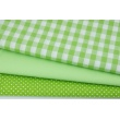 Cotton 100% double-sided green vichy check 1cm No. 2