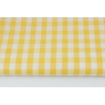 Bawełna 100% kratka vichy, dwustronna żółta 1cm nr 2