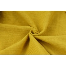 Double gauze 100% cotton plain mustard