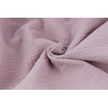 Double gauze 100% cotton plain dirty heather