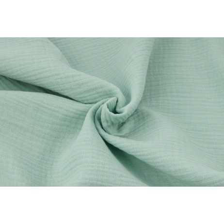 Double gauze 100% cotton plain powder mint