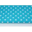 Bawełna 100% kropki 10mm na turkusowym tle (2)