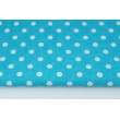 Cotton 100% polka dots 10mm on a turquoise background (2)