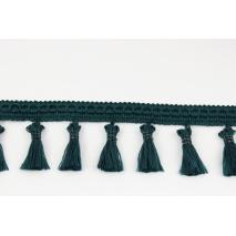 Tasiemka z frędzlami ciemny szmaragd 5cm
