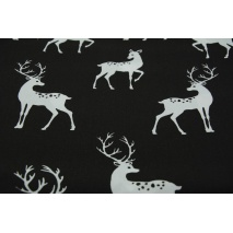 Cotton 100% whitetail deer on a black background II quality