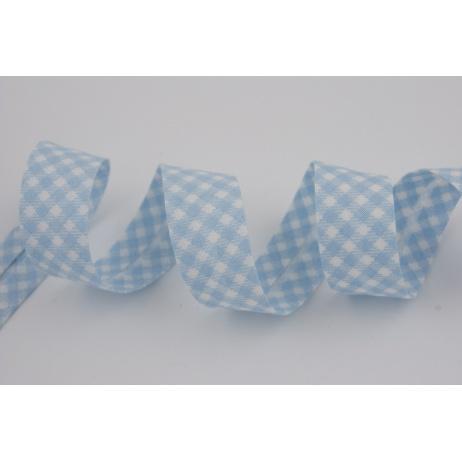 Cotton bias binding blue vichy check 18mm