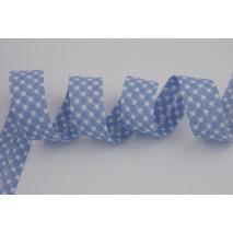 Cotton bias binding blue vichy check