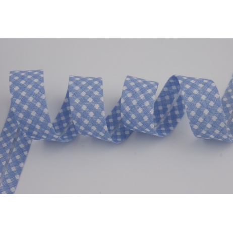 Cotton bias binding blue vichy check