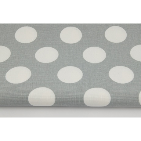 HOME DECOR large polka dots on a gray background 220g/m2