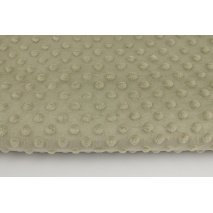 Dimple dot fleece minky in beige color