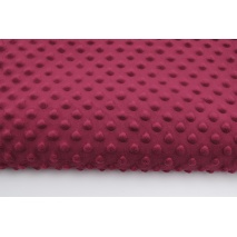 Dimple dot fleece minky in cherry color