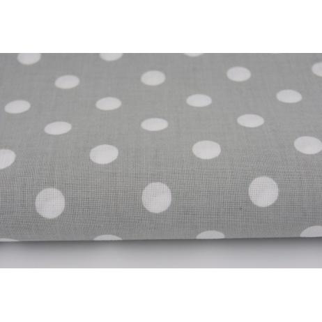 Bawełna 100% kropki 10mm jasnoszare