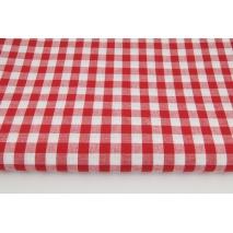 Bawełna 100% kratka vichy, dwustronna czerwona 1cm nr 1