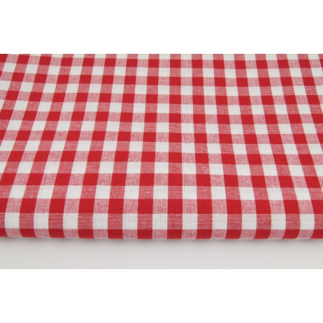 Cotton 100% double-sided red vichy check 1cm