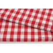 Bawełna 100% kratka vichy, dwustronna czerwona 1cm