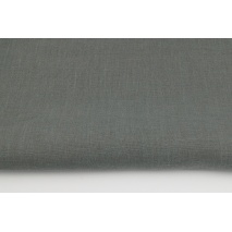 100% plain linen in dark gray color, softened