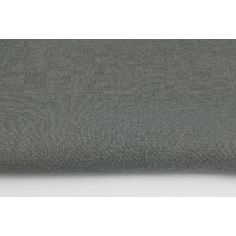 100% plain linen in dark gray color, softened