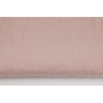 100% plain linen in dirty pink color, softened