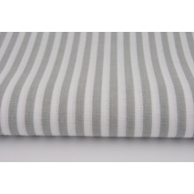 Cotton 100% stripes 5mm light gray