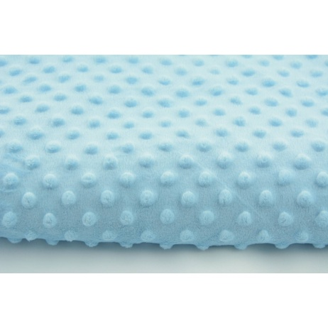 Polar fleec bubbled minky baby blue 380 g/m2