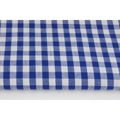 Cotton 100% double-sided cornflower vichy check 1cm