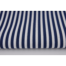 Cotton 100% navy blue 5mm stripes