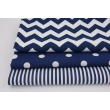 Cotton 100% navy blue 5mm stripes