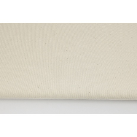 Drelich, bawełna 100%, naturalny, kremowy jednobarwny
