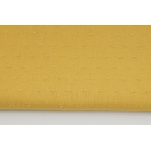 Cotton 100%, plumeti plain mustard