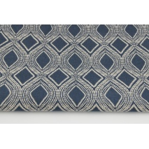 Decorative fabric, navy ornament 187g/m2