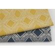 Decorative fabric, navy ornament 187g/m2