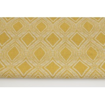 Decorative fabric, mustard ornament 187g/m2