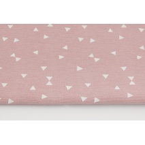 Decorative fabric, micro triangles on a dirty pink background 160g/m2