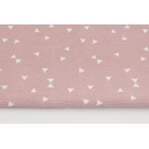 Tkanina dekoracyjna, mikro trójkąty na brudnym różu 160g/m2