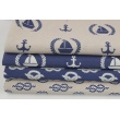 Decorative fabric, ropes on a light navy background 187g/m2