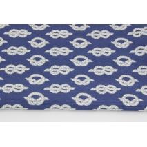 Tkanina dekoracyjna, liny na jasnogranatowym tle 187g/m2