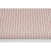 Tkanina dekoracyjna, koraliki na brudnym różu 160g/m2