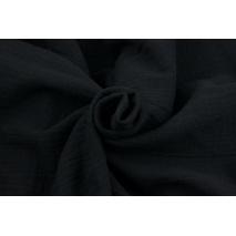 Double gauze 100% cotton plain black