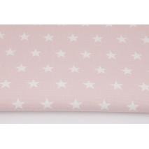 Home Decor, gwiazdki 2cm na pudrowym różu 220g/m2
