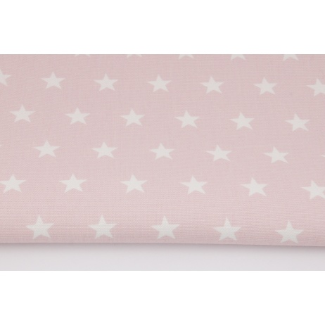 Home Decor, stars 2cm on a powder pink background 220g/m2