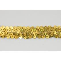 Taśma cekinowa złota 20mm, elastyczna (hologram)