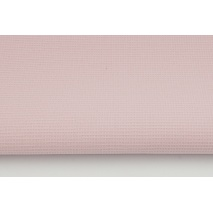 Waffle 100% cotton fabric, plain powder, dirty pink mtk