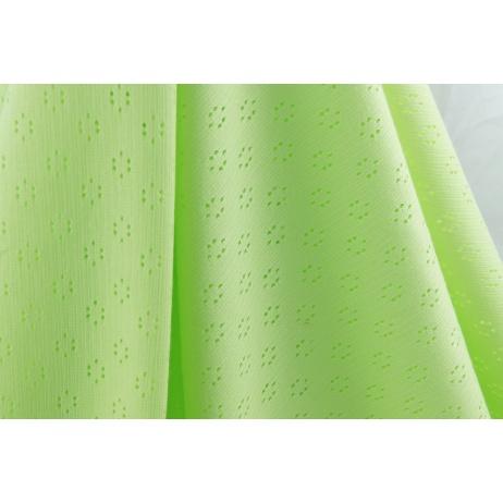 Cotton 100%, openwork jersey fabric, light green