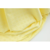 Cotton 100%, openwork jersey fabric, yellow