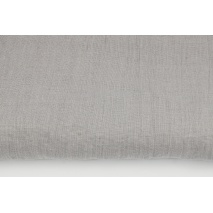 100% plain linen in light gray color, softened 145g/m2
