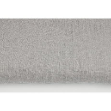 100% plain linen in light gray color, softened